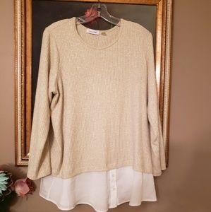 CALVIN KLEIN layered lightweight sweater